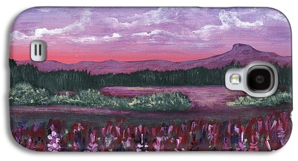 Pink Flower Field Galaxy S4 Case by Anastasiya Malakhova