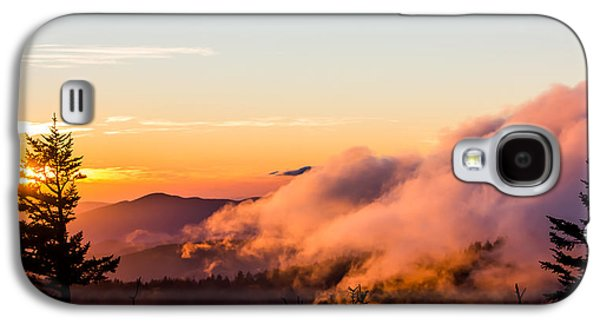 Pink Fog At Clingmans Dome Galaxy S4 Case by Shelby Young