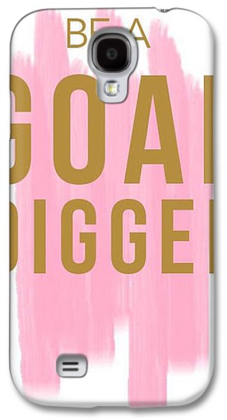Pink Goal Digger Galaxy S4 Case by Elizabeth Taylor