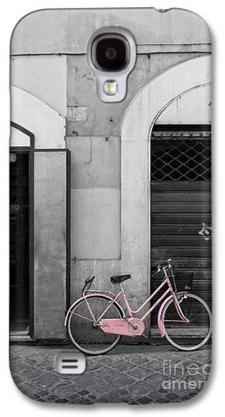 Pink Italian Bike Galaxy S4 Case by Edward Fielding