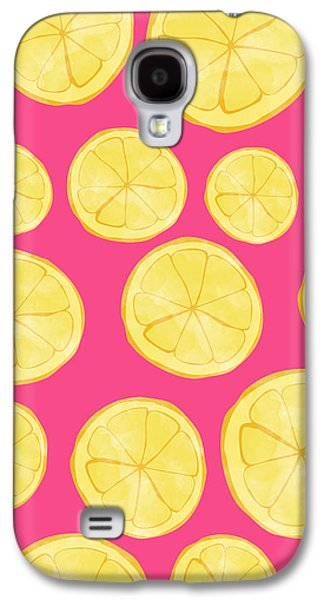 Pink Lemonade Galaxy S4 Case by Allyson Johnson