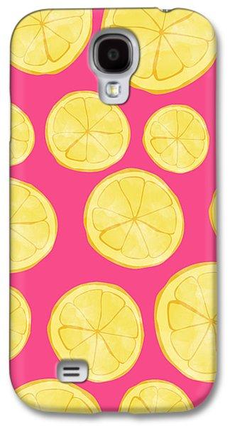 Pattern Galaxy S4 Case - Pink Lemonade by Allyson Johnson