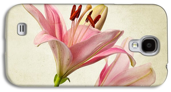Pink Lilies Galaxy S4 Case by Nailia Schwarz
