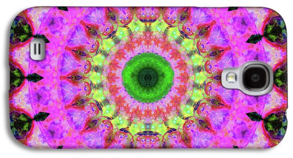Pink Love Mandala Art By Sharon Cummings Galaxy S4 Case by Sharon Cummings