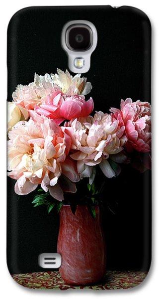 Pink Peonies In Pink Vase Galaxy S4 Case