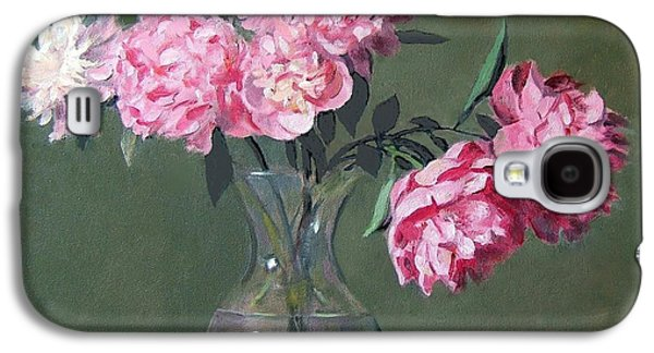Pink Peonies Walking The Plank Galaxy S4 Case
