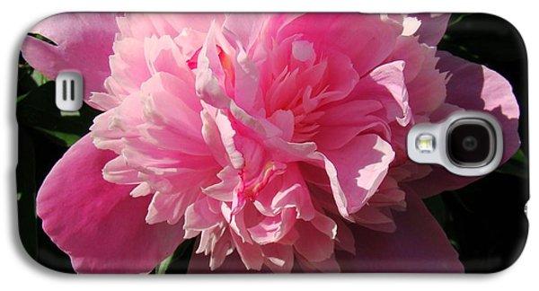 Pink Peony Galaxy S4 Case by Sandy Keeton