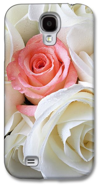 Pink Rose Among White Roses Galaxy S4 Case by Garry Gay