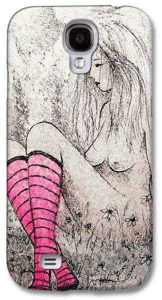 Pink Socks Galaxy S4 Case by Rachel Christine Nowicki