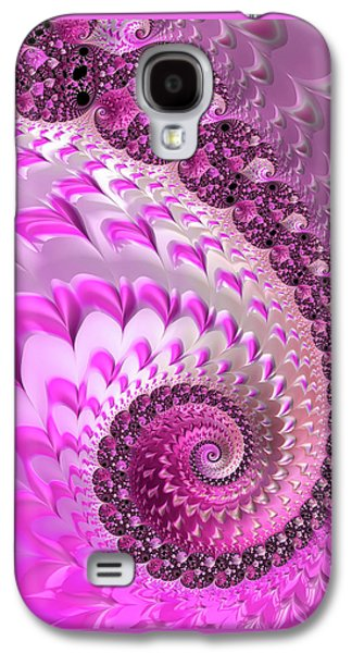 Pink Spiral With Lovely Hearts Galaxy S4 Case