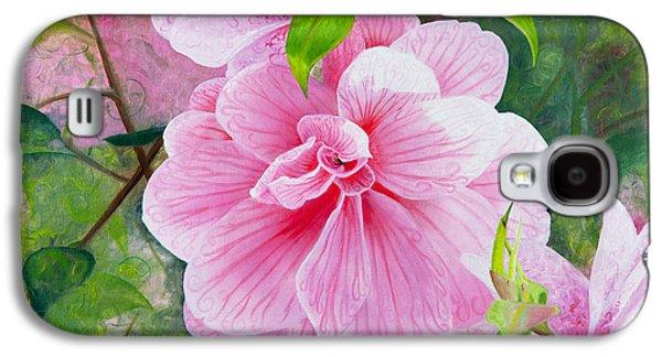 Pink Swirl Garden Galaxy S4 Case by Shelley Irish