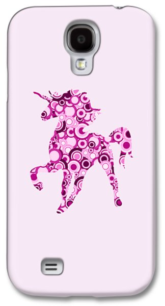 Pink Unicorn - Animal Art Galaxy S4 Case by Anastasiya Malakhova