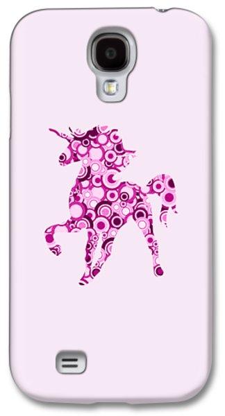 Pink Unicorn - Animal Art Galaxy S4 Case