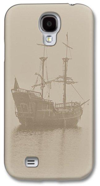 Pirate Ship In Sepia Galaxy S4 Case by Joy McAdams