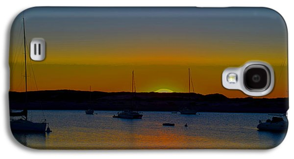 Morro Bay California Sunset Abstract Galaxy S4 Case by Barbara Snyder