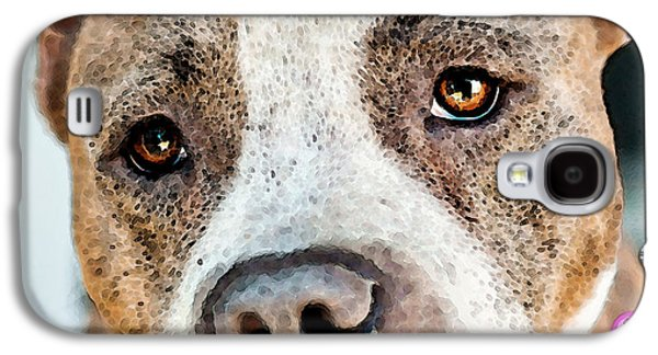 Pit Bull Dog - Pure Love Galaxy S4 Case by Sharon Cummings