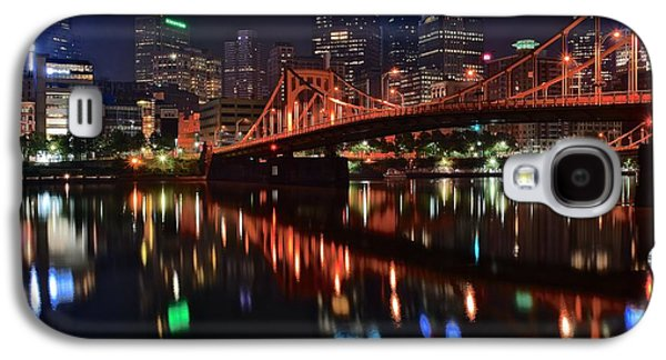 Pittsburgh Lights Galaxy S4 Case by Frozen in Time Fine Art Photography