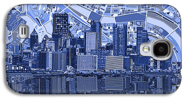 Pittsburgh Skyline Abstract 4 Galaxy S4 Case