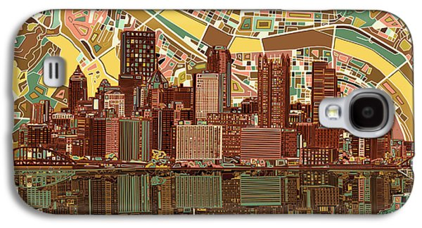 Pittsburgh Skyline Abstract  Galaxy S4 Case by Bekim Art
