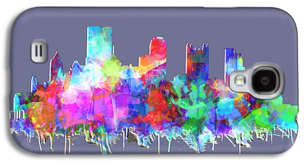 Pittsburgh Skyline Watercolor 3 Galaxy S4 Case