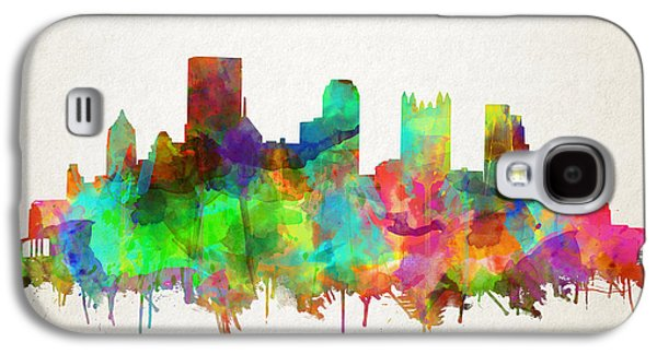 Pittsburgh Skyline Watercolor 5 Galaxy S4 Case