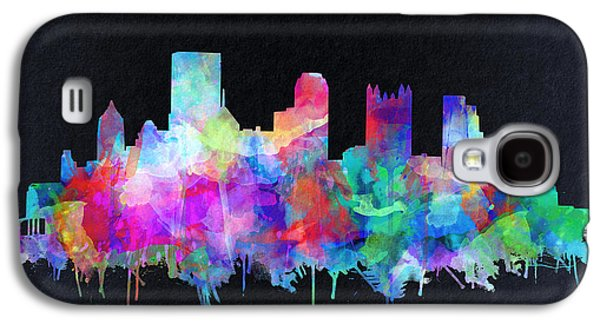 Pittsburgh Skyline Watercolor 6 Galaxy S4 Case
