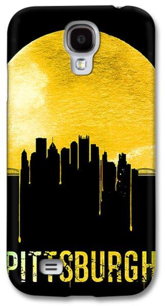 Pittsburgh Skyline Yellow Galaxy S4 Case