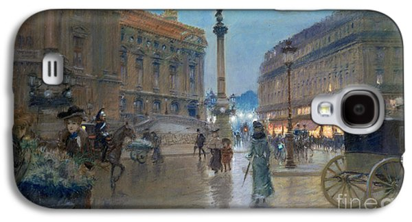 Place De L Opera In Paris Galaxy S4 Case by Georges Stein