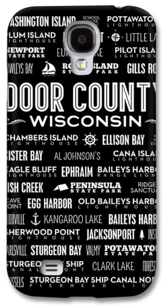 Places Of Door County On Black Galaxy S4 Case by Christopher Arndt