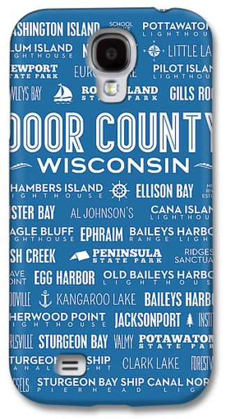 Places Of Door County On Blue Galaxy S4 Case by Christopher Arndt