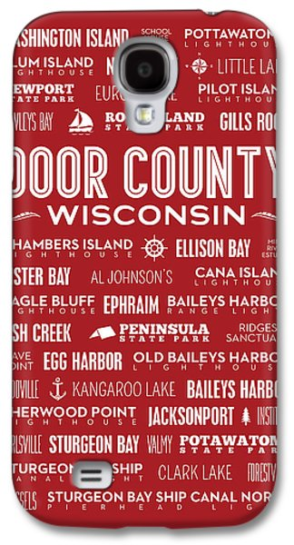 Places Of Door County On Red Galaxy S4 Case by Christopher Arndt
