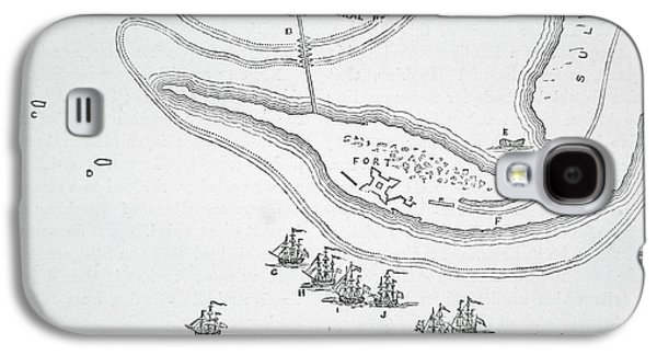 Plan Of The Attack On Sullivan's Island, 1776 Galaxy S4 Case by American School