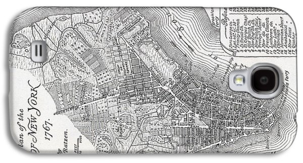 Plan Of The City Of New York Galaxy S4 Case by American School