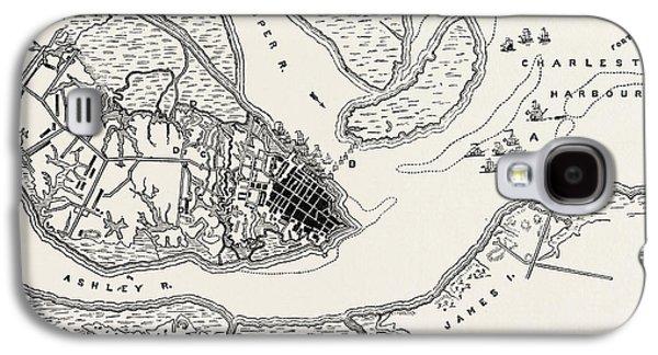 Plan Of The Siege Of Charleston Galaxy S4 Case