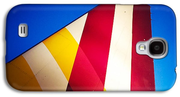 Plane Abstract Red Yellow Blue Galaxy S4 Case
