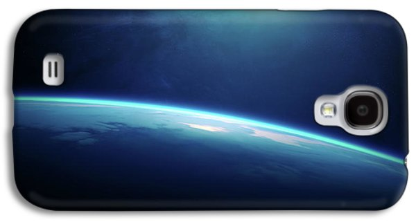 Planet Earth Sunrise From Space Galaxy S4 Case