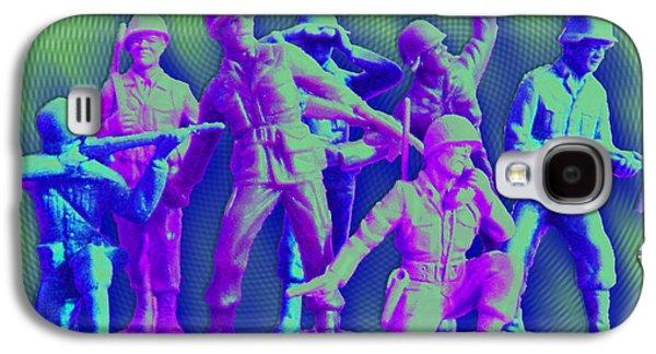 Plastic Army Man Battalion Pop Galaxy S4 Case by Tony Rubino
