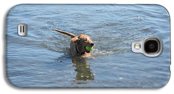 Playful Little River Duck Dog In The Water Galaxy S4 Case by DejaVu Designs