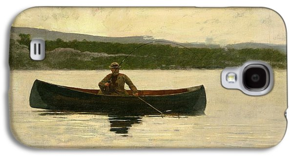 Playing A Fish Galaxy S4 Case by Winslow Homer