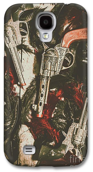 Playing Cowboys And Indians Galaxy S4 Case by Jorgo Photography - Wall Art Gallery