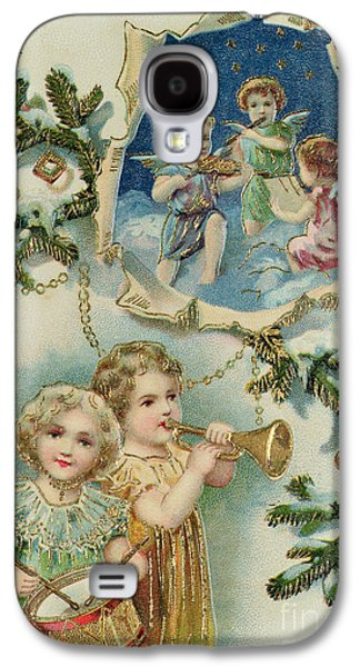 Playing Musical Instruments, Victorian Christmas Card Galaxy S4 Case