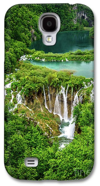 Plitvice Lakes National Park - A Heavenly Crystal Clear Waterfall Vista, Croatia Galaxy S4 Case