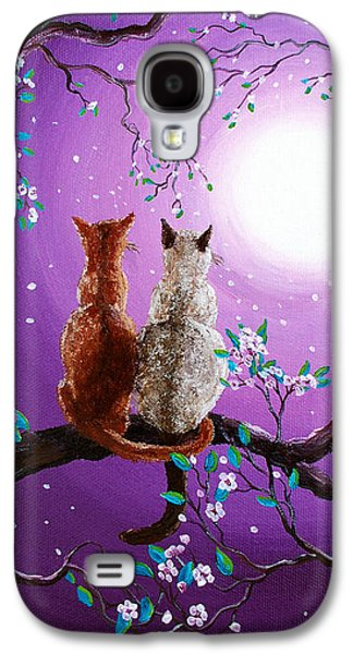 Plum Blossoms In Pale Moonlight Galaxy S4 Case by Laura Iverson