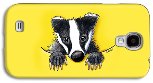 Pocket Badger Galaxy S4 Case by Kim Niles