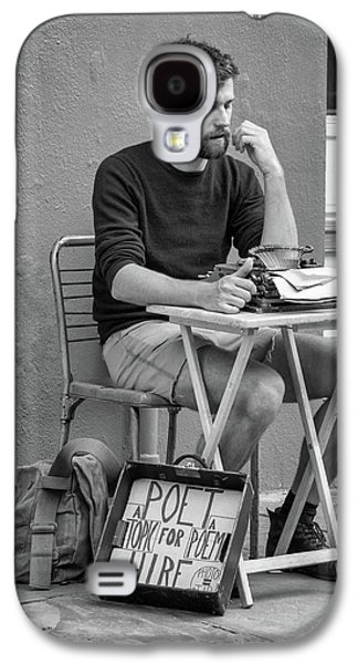 Poet For Hire Bw Galaxy S4 Case by Steve Harrington