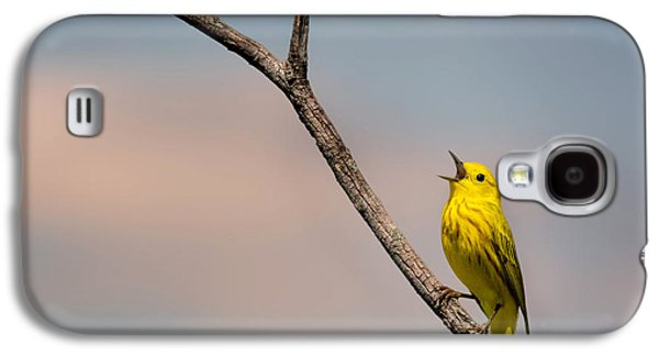 Poetrait Of The Yellow Warbler Galaxy S4 Case