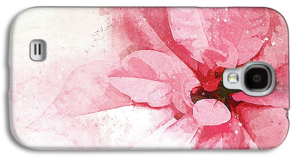 Poinsettia Abstract Galaxy S4 Case