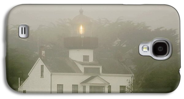 Point Pinos Lighthouse In A Foggy Night - Pacific Grove Monterey Central Ca Galaxy S4 Case