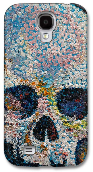 Pointillism Skull Galaxy S4 Case by Michael Creese
