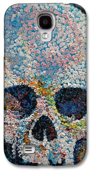 Pointillism Skull Galaxy S4 Case